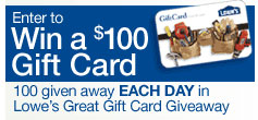 Lowes gift Card Give Away