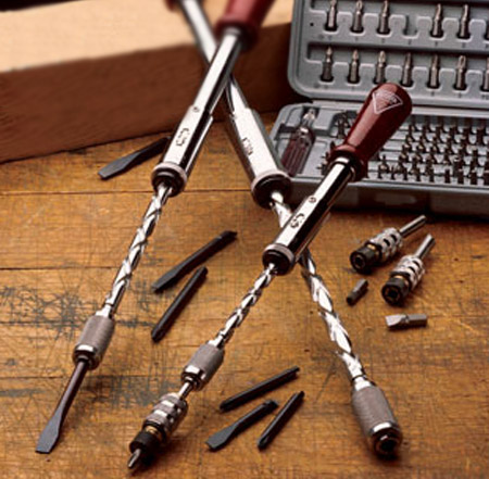 Yankee Screwdrivers are the    semi-automatics    of the screw-driving    Yankee