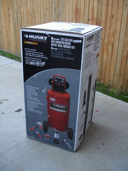 Hands On Husky S 26 Gallon Vertical Air Compressor W 6