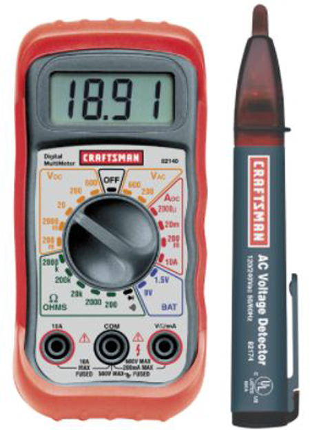 Multimeter and ac voltage dtector