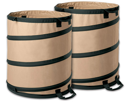 One Collapsible Barrel 30 Gallons Of Yard Waste Toolmonger