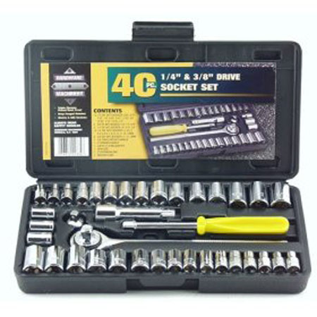 Great Neck PSO40 Hardware Machinery 40-Piece Socket Set
