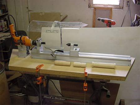 homemade lathe woodworking plans and information at