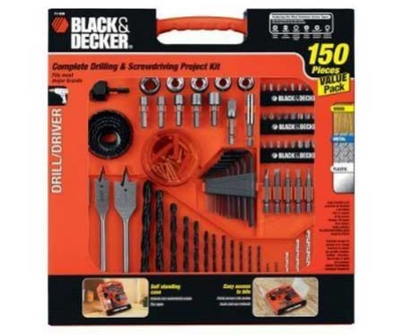 "This drill/driver ""project kit"" from Black & Decker is currently $13 over at"