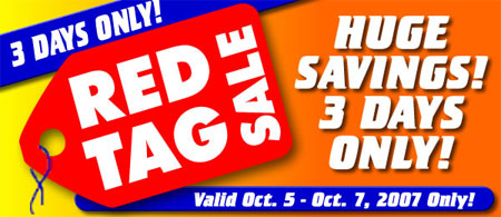 Harbor Freight 3 Day Red Tag Sale