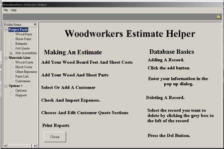 Woodworkers Estimate Helper