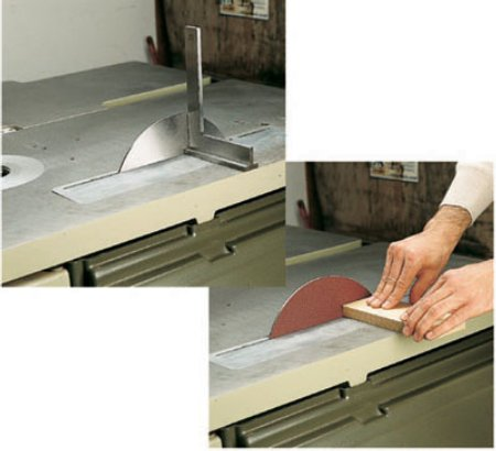 Turn your table saw into a disk sander toolmonger for 10 sanding disc for table saw