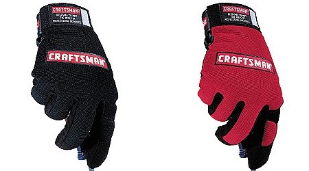 Black and Red Mechanic's Gloves