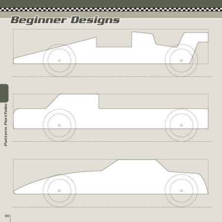 pine wood derby template - book review pinewood derby designs patterns toolmonger