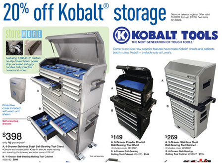 dealmonger: 20% off kobalt tool storage | toolmonger