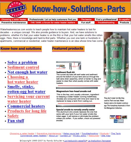 Water Heater Rescue Homepage