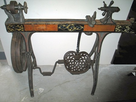 Its Just Cool Antique Treadle Wood Lathe