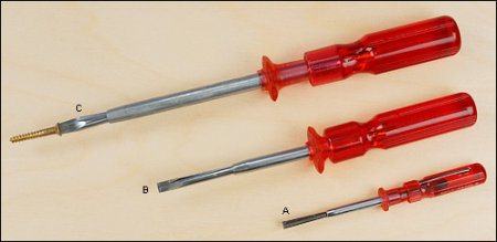 Quick-Wedge Slotted Screwdrivers