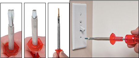 Using the Quick-Wedge screwdriver