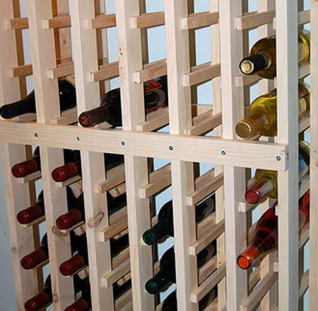 Wine rack plans home brew forums for Build a wine cellar