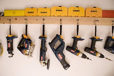also putting some hooks to hang might future proof your storage solution & Cordless Tool Storage Rack - Tools - DIY Chatroom Home Improvement Forum