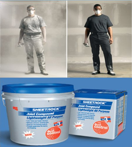 Dust Control Compound : Less airborne dust is a must when sanding drywall toolmonger