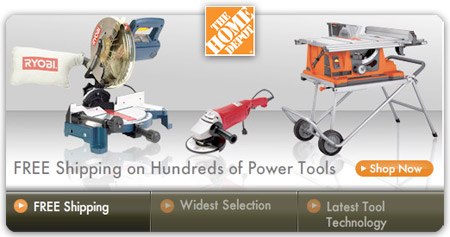 home depot free power tool shipping