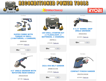 power tools names. dealmonger: reconditioned ryobi tools power names g