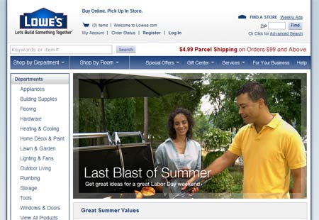 Lowes Site Makeover