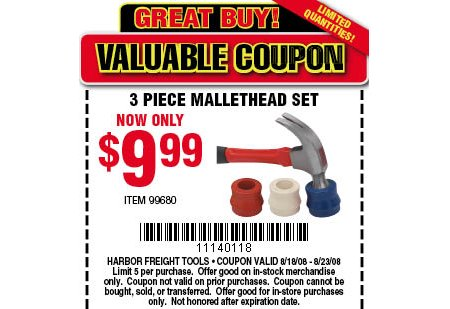 Mallethead Coupon