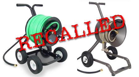 The CPSC Announced A Voluntary Recall Of The Rapid Reel Portable Garden Hose  Reel Carts And Wagons. Rapid Reel Has Received Five Reports Of Tires  Exploding ...