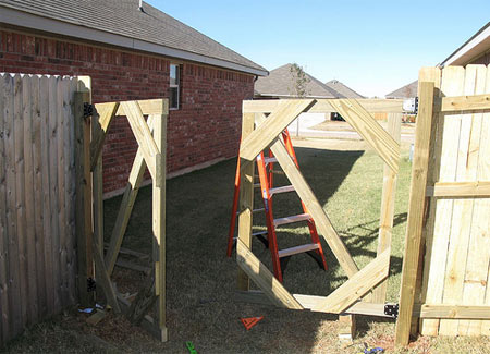 Double Wooden Gate Construction