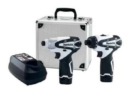 Makita's compact driver set includes a two-speed drill driver, an impact