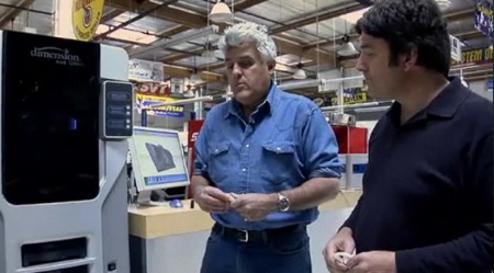 Jay Leno using his 3D Printer