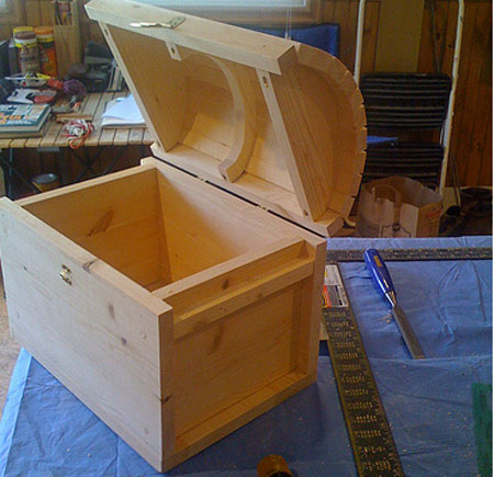 wooden treasure chest box plans
