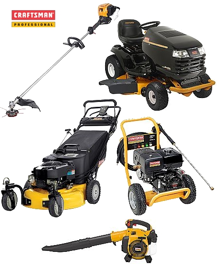 Lawn And Garden Supply : Craftsman professional powered lawn equipment toolmonger