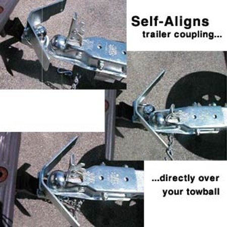 self aligning trailer hitch guide toolmonger rh toolmonger com Trailer Hitch Hook Up Guides gooseneck trailer hitch alignment guide