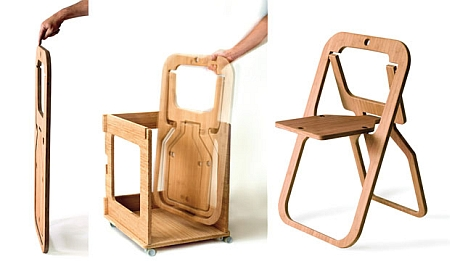 Fast Company recently had an interesting item about folding chairs. To my eye two of them stood out. The first shown above by Christian Desile ...