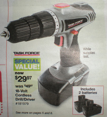 Coleman PMD8131 Powermate 18v Rechargeable Drill Kit On Sale