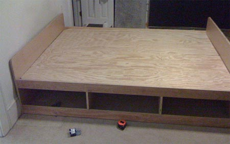 From the flickr pool diy bed frame toolmonger for Make your own bed frame ideas
