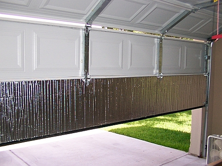 How to insulate a roller garage door
