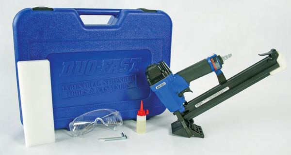 Flooring Nailers Are Pretty Much Like Other Nailers/staplers, Except That  They Add A Funky Head That Helps You Position Nails Quickly And Easily.