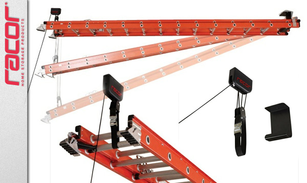 Ceiling Storage Racor Ladder Lift Toolmonger